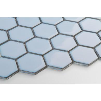 Heksagon Bluebell - duży, szkliwiony