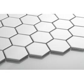 Heksagon biały - duży, matowy