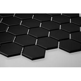 Heksagon czarny - duży, matowy
