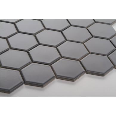 Heksagon ciemno szary - duży, matowy