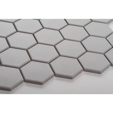 Heksagon jasno szary - duży, matowy