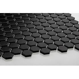 Heksagon czarny - mały, matowy