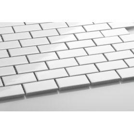 Mini cegiełka biała - szkliwiona
