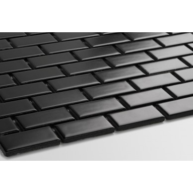 Mini cegiełka czarna - matowa