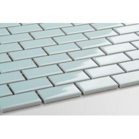Mini cegiełka błękitna - szkliwiona