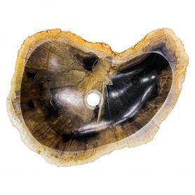 Hakan - umywalka ze skamieniałego drewna