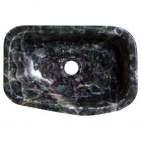 Urdur - umywalka z kamienia, ciemny onyks
