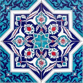 Mehtap - ceramiczne płytki z Turcji 20x20cm, opakowanie 12 sztuk (0,48m2)
