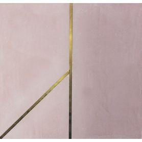 Xartos - Różowa płytka cementowa z mosiądzem