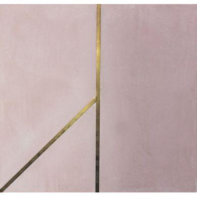 Xartos - płytka cementowa różowa z mosiądzem