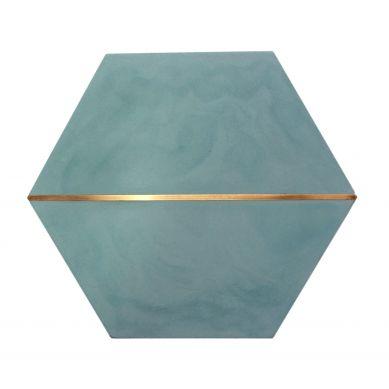 Xaja - heksagonalna płytka cementowa z mosiądzem