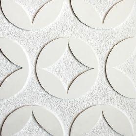 Xavery - Białe płytki cementowe z wzorem 3D