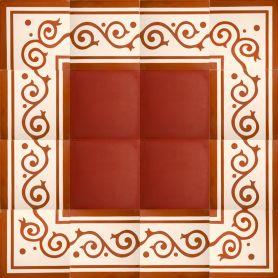 Nostre - Czerwone bordery i kornery cementowe - zestaw