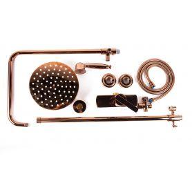 Alessandra Pink Gold - mosiężna bateria prysznicowa retro