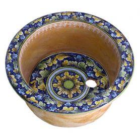 Okrągłe umywalki ceramiczne z Włoch