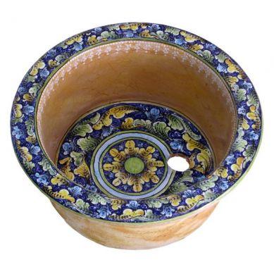 Umywalka okrągła ceramiczna z Włoch 46x19 cm