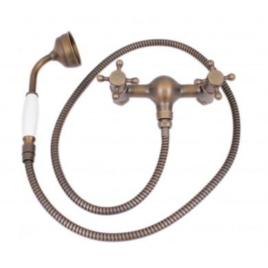 Gianfranco - mosiężna słuchawka prysznicowa retro bez wylewki