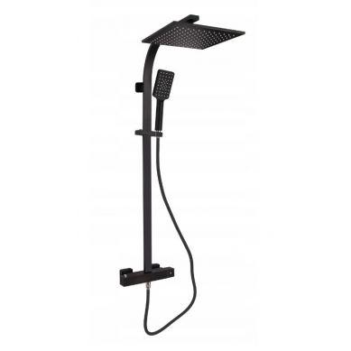 Akali - czarna bateria termostatyczna prysznicowa