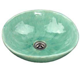 Helena - umywalka nablatowa w kolorze szałwi