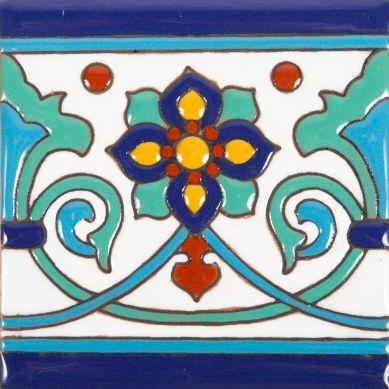 Muse - płytki meksykańska z reliefem - 30 sztuk