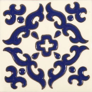 Enrica - płytka ceramiczn z Meksyku z reliefem - 30 sztuk