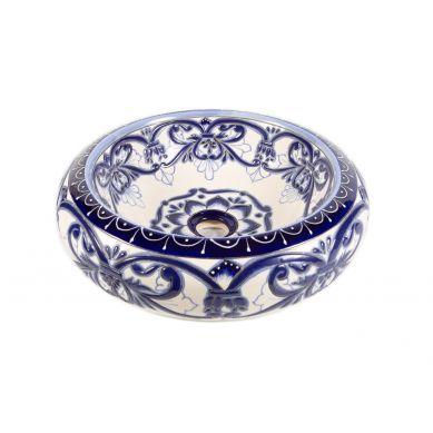 Sabina - ceramiczna umywalka zdobiona z reliefem
