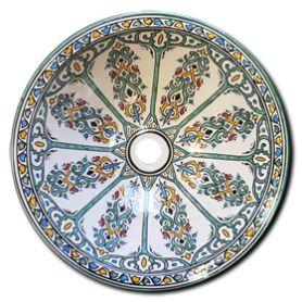 Arahal - Marokańska umywalka ceramiczna