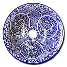 Lebria - Niebieska marokańska umywalka