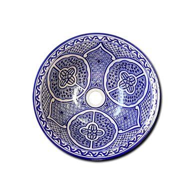 Lebria - Niebieska marokańska umywalka nablatowa