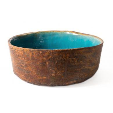 Tekla - artystyczna umywalka zielono niebieska