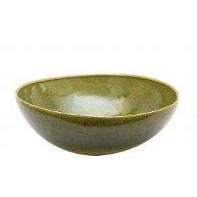 Hanna - zielona umywalka nablatowa