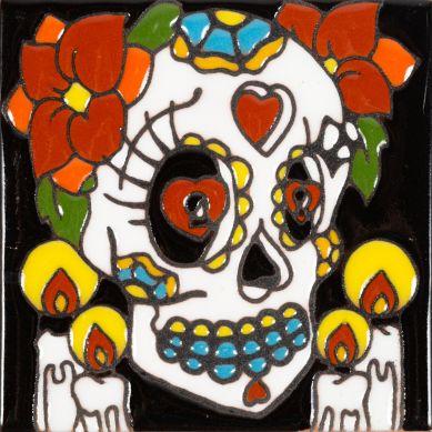 Catrina 1 - meksykańska płytka ceramiczna