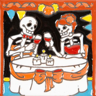 Aniversario - Seria Catrina – Meksykańska płytka ceramiczna