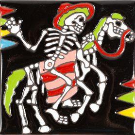 Bandido - Seria Catrina – płytka ceramiczna Talavera z Meksyku