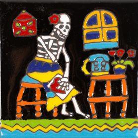 Amas - Seria Catrina – ceramiczna płytka z Meksyku