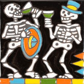 Fiesta - Seria Catrina - płytka meksykańska reliefem
