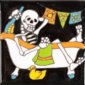 Baño - Seria Catrina - Meksykańskie płytki malowane ręcznie
