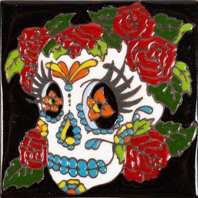 Mujer - Seria Catrina - płytka ceramiczna z Meksyku