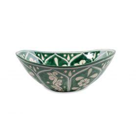 Baila - Zielona ceramiczna umywalka