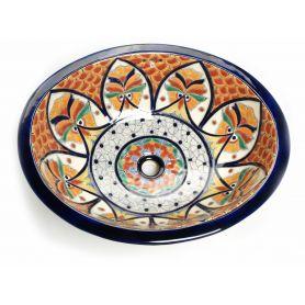 Dominga - Ceramiczna umywalka zdobiona