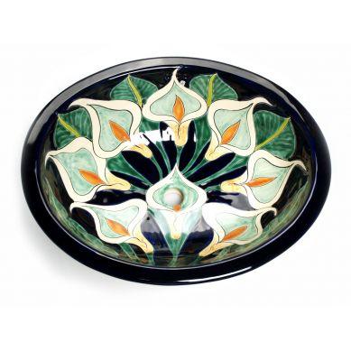 Calia - Umywalka Wpuszczana Zielona