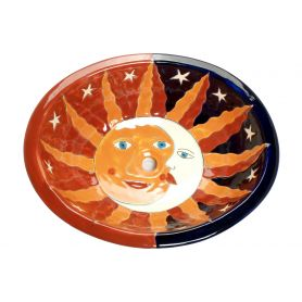 Solaluna - Ręcznie zdobiona umywalka wpuszczana