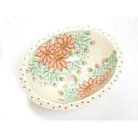 Dita -Umywalka Średnia w kwiaty