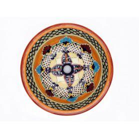 Lucrecia - Ręcznie zdobiona umywalka wpuszczana