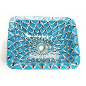 Aqua Azul - umywalka prostokątna z Meksyku
