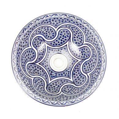 Marchena - niebieska umywalka nablatowa