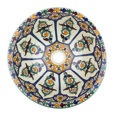 Dilma - Ceramiczna umywalka z Maroka