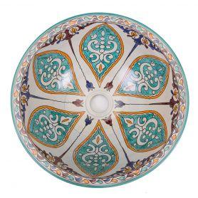 Pilas - nablatowa umywalka ceramiczna z Maroka