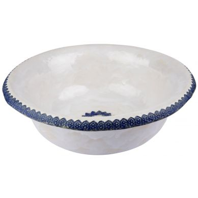Marina - umywalka z niebieską koronką