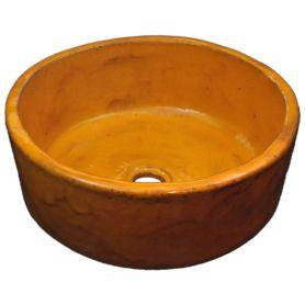 Joanna - Pomarańczowa umywalka ręcznie formowana